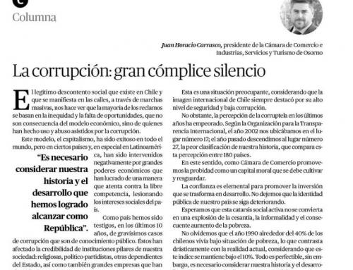La corrupción: gran cómplice silencioso