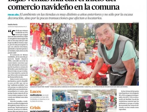 Bajas ventas marcan el inicio del comercio navideño en la comuna