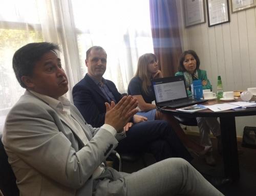 Reunión con Víctor Ángulo, alcalde de Purranque, para dar a conocer el trabajo que realizan los empresarios rusos