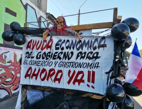 Cámara de Comercio Osorno y gremios locales se sumaron a caravana nacional ante crisis económica por cuarta cuarentena