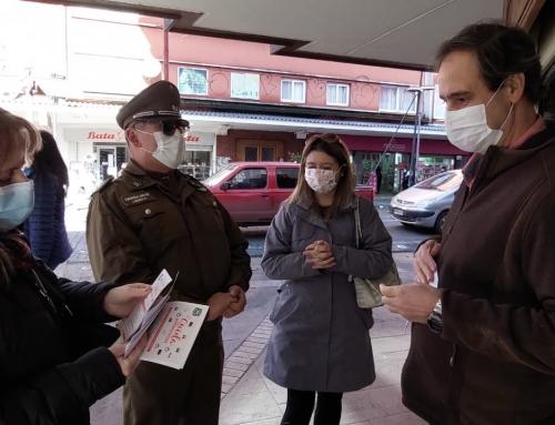 Cámara de Comercio Osorno junto a Carabineros recorrieron centro de la ciudad informando medidas de seguridad para evitar delitos en locales comerciales